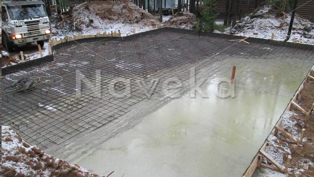 Заливка монолитной плиты в Выборгском районе