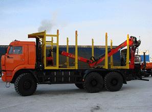 Сортиментовоз КамАЗ 65225 материалов для монолитных фундаментов